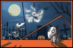 Afterlife friends (Has Tim Burton been using the same type of dog in all of his animated films?)