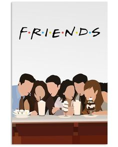 Friends Serial Minimalist Poster Art Print by Lab No 4 The Quotography Department. All prints are professionally printed, packaged, and shipped within 3 - 4 business days. Friends Tv Show, Tv: Friends, Friends Tv Quotes, Friends Poster, Friends Cast, Friends Moments, Friends Series, Serial Friends, Mode Collage