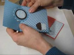 card making video tutorial: 3 fold fun card frenchiestamps.com - YouTube