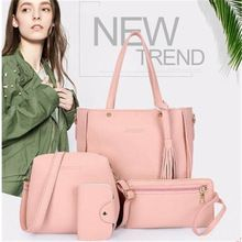 Cheap composite bag, Buy Quality brand tote bag directly from China tote bag Suppliers: 2017 Composite Bag 4 Pieces Women Luxury Brand Tote Bag PU Leather Crossbody Bolsa Feminina Tassels Vintage Shoulder Bag Women Crossbody Shoulder Bag, Leather Crossbody Bag, Leather Handbags, Pu Leather, Leather Wallets, Shoulder Bags, Women's Bags, Purses And Bags, Tote Purse
