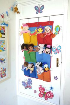 Over-the-door shoe storage in bedrooms for small cuddly toys Girls Bedroom, Bedroom Ideas, Bedrooms, Shoe Storage In Bedroom, Toy Storage, Our Baby, Kara, Kids Room, Sweet Home
