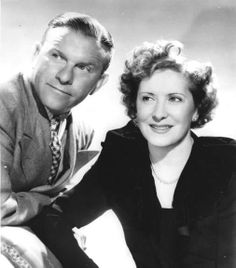 The First Couple of Comedy- George Burns & Gracie Allen. George played the straight man, while Gracie played the scatter-brained wife.