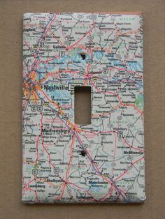 Nashville Murfreesboro Tennessee Road Map by creativeordinary, $10.00