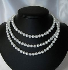 Long Pearl Necklace Long Deco Downton Abbey by julianascreations, $32.00