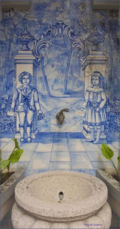 Carvalhinho industry XX century  - tiles. In St.a Catarina Hoterl, Porto, Portugal