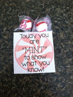 Testing Treat Freebies! Encourage your students on the day of the big test/tests!