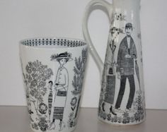 Pair of Vintage Arabia Finland small wall by FinnishTreasures