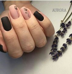 Beautiful simple black n nude design