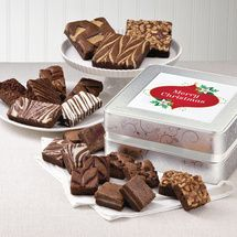 Christmas Keepsake Tin Medley | Christmas Gourmet Brownie Gift Baskets Delivered; brownies.com Fairytale Brownies, Flowers Delivered, Christmas Chocolate, Tin, Caramel, Bakery, Candy, Recipes, Gift Baskets