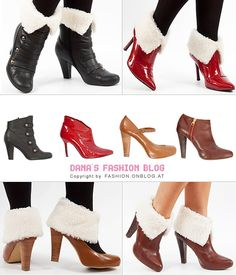 DIY shearling boot toppers to adorn your boots.  The blog is in German but the pictures are great