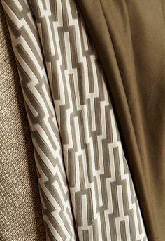 From left to right: Sylvan Weave in Tuscan Metropolitan Velvet in Platinum and Madison Wool in Peat