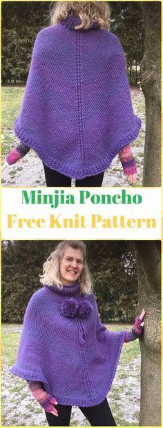 Knit Denizen Poncho Free Pattern Knit Women Capes Poncho Free