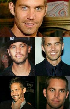 a collage of the authentic Paul Walker