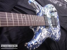 Ibanez JS 1000 Joe Satriani Model with Custom Faces Paint and Finishing. www.beyondcustomguitars.com