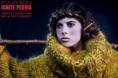 @Fashion Ignite Peoria Photog: Tracey Frugoli, Model: Shadia Ghantous, Hair: Josh Brown, Makeup: Cari Fleshman, Sweater: Timothy Howerter, Bracelet: Sarah Johnson, Nails Tonya Hoang