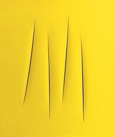 Lucio Fontana 1962 (Italian painter, ceramist and sculptor, 1899 - 1968)