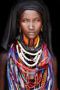 11 Mind-Blowing Pictures Of The Last African Nomads - An Arbore Girl in Ethiopia