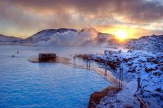 Blue Lagoon, Iceland: Natural thermal hot springs.
