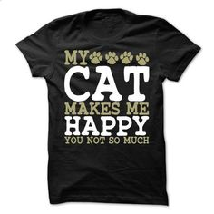 My Cat Makes Me Happy T-Shirt - #sweatshirt menswear #sweater nails. GET YOURS => https://www.sunfrog.com/Pets/My-Cat-Makes-Me-Happy-T-Shirt.html?68278