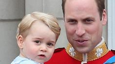 IT WAS the Queen's official birthday in Britain, but Prince George stole the show on just his second public appearance.