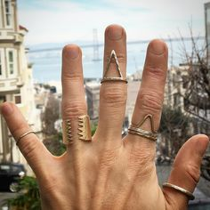 San Francisco handmade jewelry. See this Instagram photo by @auravedajewelry • 303 likes