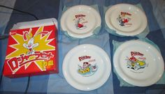Roger Rabbit plates from Japan with Jessica, Baby Herman and Benny the Cab