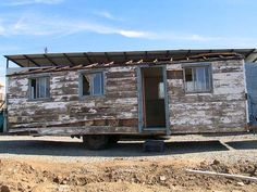 old tiny house on trailer