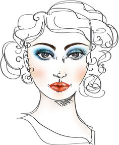 23 best 1970 makeup images makeup artistry moda 1970s makeup 70s Clothing face charts by jessica althaus 1970 s 1970s makeup cosmetics face charts