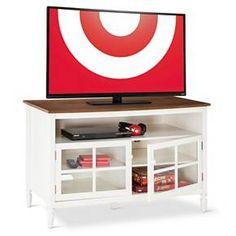 Isabella Glass Door with Open Shelf TV Stand $239.99