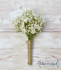 This babys breath boutonniere is made with REAL gypsophila, or babys breath, that has been dried. The entire process is done completely by
