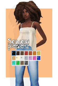 |Seven|• NOT Hat compatible• All Lods• 18 EA swatches• Some clipping issues• Recolours allowed• Do not re-upload• Do not claim as your own• This is an edit of @voidfeather-cc afro• Also, message me if you have any problems.DOWNLOAD AT MY...