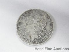 1879 P Silver Morgan One Dollar Coin $1 United States Currency