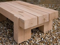 Outdoor Oak Beam Side Table #outdoorfurniture #indigofurniture #outdooroak