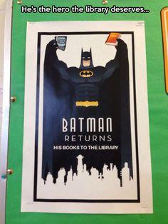 Batman is a reader...