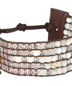 Chan Luu Cuff Bracelet with Swarovski Crystals #accessories  #jewelry  #bracelets  https://www.heeyy.com/suggests/chan-luu-cuff-bracelet-with-swarovski-crystals-multi-red-aventurine-mix/
