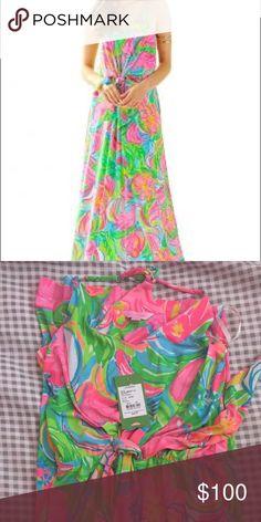 So a peeling Rosa maxi XS BNWT BNWT. Asking $83 via 🅿️🅿️. XS. Picky with trades. Lilly Pulitzer Dresses Maxi