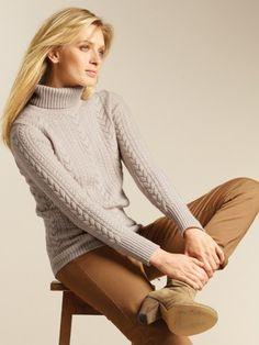 a5f4e5924f 100% Cashmere Mock Neck Ribbing Sweater-Cashmere 1873.COM. Cashmere 1873 · Cashmere  Turtleneck Sweaters women