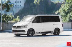 Vossen Wheels - VW T6 - VOSSEN FLOW FORMED SERIES: VFS1 Transporter Van, Volkswagen Transporter, Vw T5, Flow Forming, Vw Caravelle, Vossen Wheels, Bus Conversion, Racing, Vw Vans