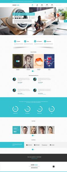 Create A Website For Free With Home Page PSD Website Template