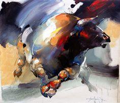 Braca Djurkovic - Painter - Official Website - Oil on Canvas Animal Paintings, Animal Drawings, Bull Painting, Chinese Landscape Painting, Deer Art, Farm Art, Ferdinand, Horse Art, Beautiful Artwork