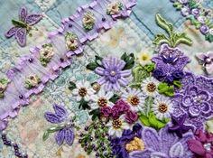 Crazy Quilt Created by Barbara Nicki Lee Seavey - Raviolee Dreams - 2015 CQJ