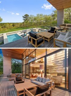 This balcony has multiple seating options, all positioned to take advantage of the amazing view.
