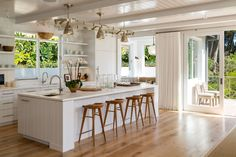 Cindy Crawford Lists Her Malibu Home For $15.45 Million.  White and natural wood combo