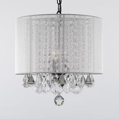 Gallery 3-light Crystal Chandelier with Shade - Overstock™ Shopping - Great Deals on Gallery Chandeliers & Pendants