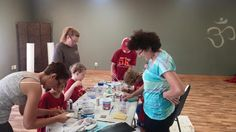 1AUG15  A great time exploring art at Pandora's Box- free art workshops for adults and kids. We focused on a community canvas and wood crafts. Thank you all for spending time with us!