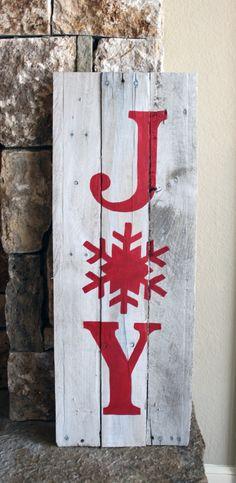 Items similar to Rustic Reclaimed Wood Christmas Sign, Reclaimed Wood Joy Art, Xmas Decorations, Christmas Decor for Wall on Etsy Christmas Wood Crafts, Christmas Signs Wood, Holiday Signs, Christmas Mantels, Farmhouse Christmas Decor, Outdoor Christmas, Christmas Projects, Christmas Art, Holiday Crafts