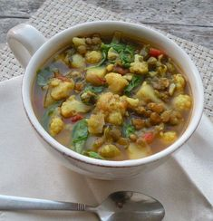 Red Lentil Soup with Spinach or Arugula | Soups and Salads | Pinterest ...