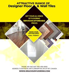 Buy an attractive range of designer floor and wall tiles at Gracious Hardwood Flooring Inc. in Brampton. Get your all kinds of flooring services in affordable prices. PHONE: 416-540-8317, 905-458-8000 EMAIL: GRACIOUSHARDWOOD@YAHOO.COM Ceiling Tiles, Wall Tiles, Discount Tile, Cheap Hardwood Floors, Marble Tiles, Price Book, Kitchen Flooring, Tile Floor, The Unit