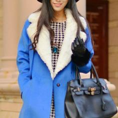 Standout Faux Fur Collar Coat