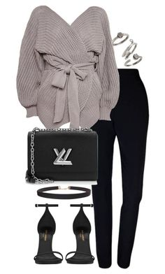 """Untitled #3135"" by theeuropeancloset ❤ liked on Polyvore featuring Plakinger, Topshop, Yves Saint Laurent, Humble Chic, Louis Vuitton and Kendra Scott"